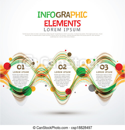 abstract option infographics - csp18828497