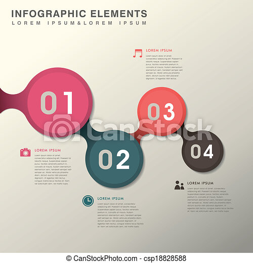 abstract option infographics - csp18828588