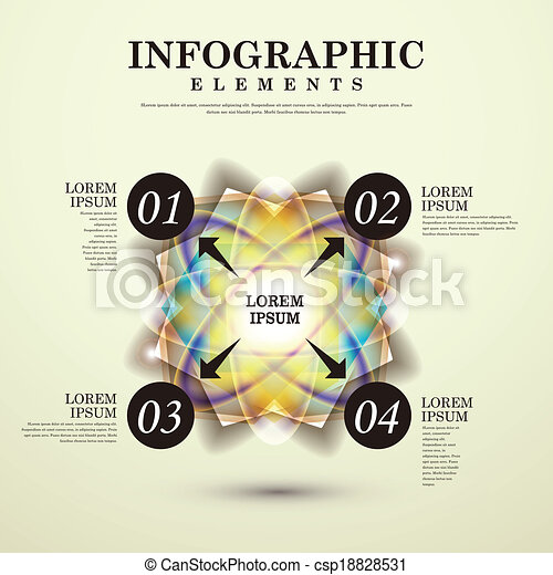 abstract option infographics - csp18828531