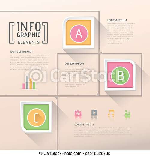 abstract option infographics - csp18828738
