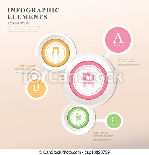 abstract option infographics - csp18828739