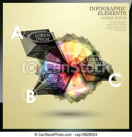 abstract option infographics - csp18828524