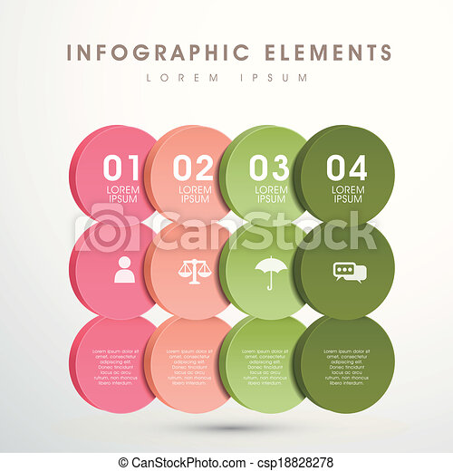 abstract option infographics - csp18828278