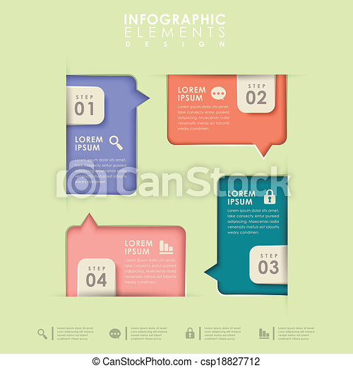 abstract option infographics - csp18827712
