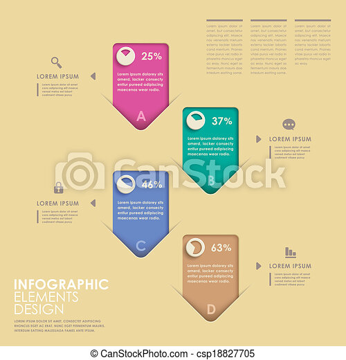 abstract option infographics - csp18827705