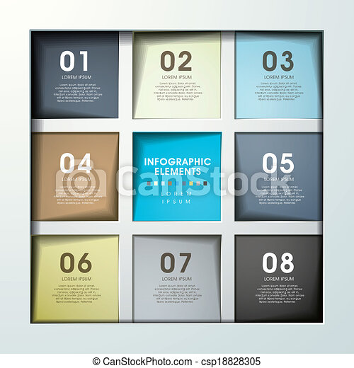 abstract option infographics - csp18828305