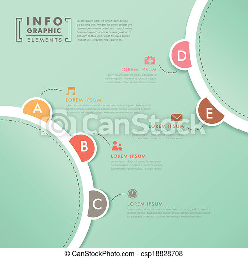 abstract option infographics - csp18828708