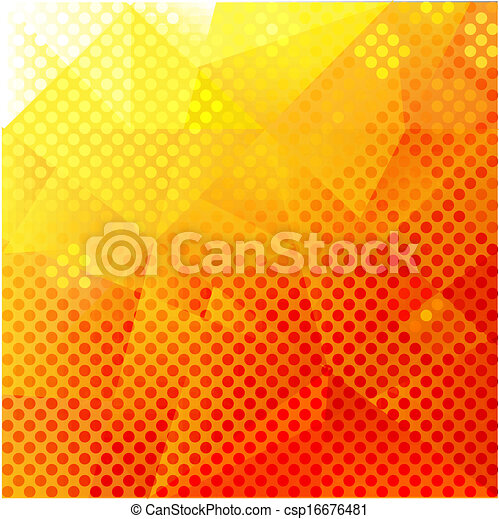 Abstract Orange And Yellow Background - csp16676481