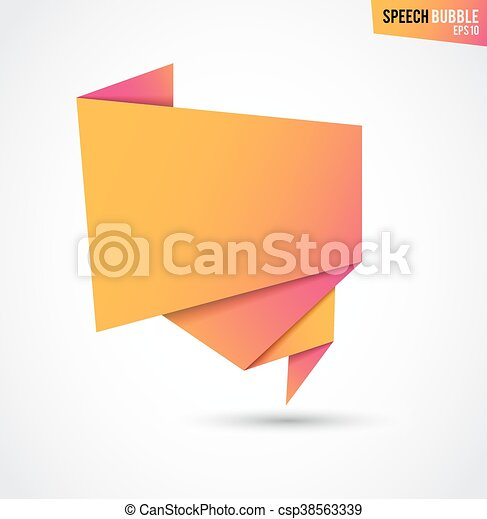 Abstract Orange Banner Isolated On The White Background