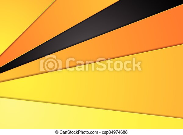 Line Drawing Vector Graphics : Abstract orange black corporate design. vector graphic