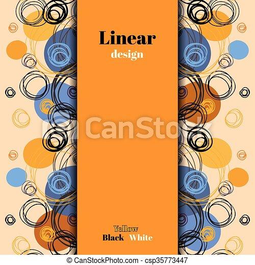Abstract Orange Blue Geometric Background