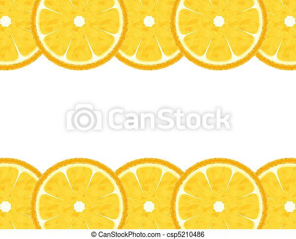 Abstract orange border - csp5210486