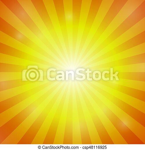 Abstract Orange Color Burst Background