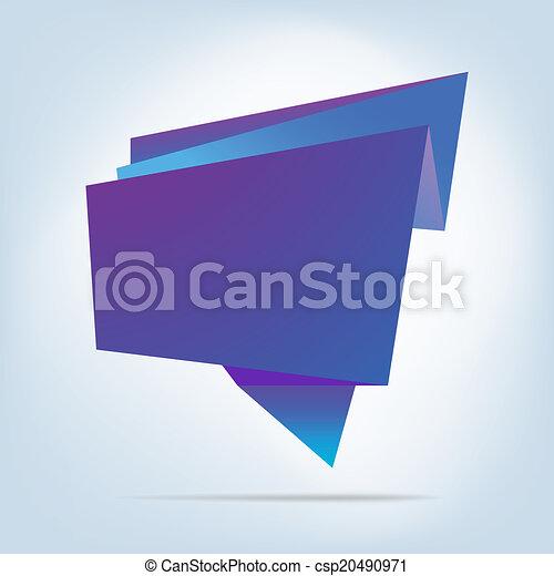 Abstract origami speech bubble. EPS 8 - csp20490971
