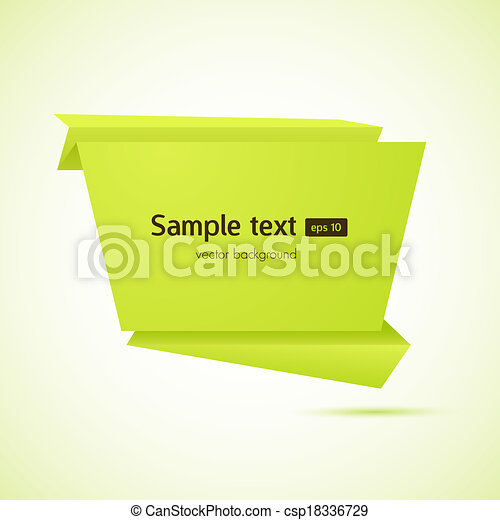 Abstract origami speech bubble vector background - csp18336729