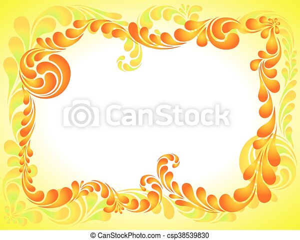 abstract ornament, bright frame - csp38539830