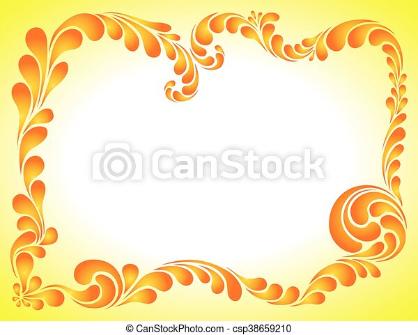 abstract ornament, bright frame - csp38659210