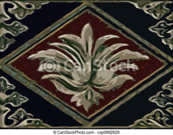Abstract ornamental flora - csp0692629