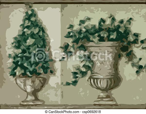 Abstract ornamental flora - csp0692618