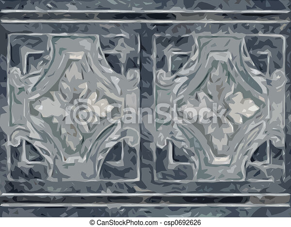 Abstract ornamental flora - csp0692626