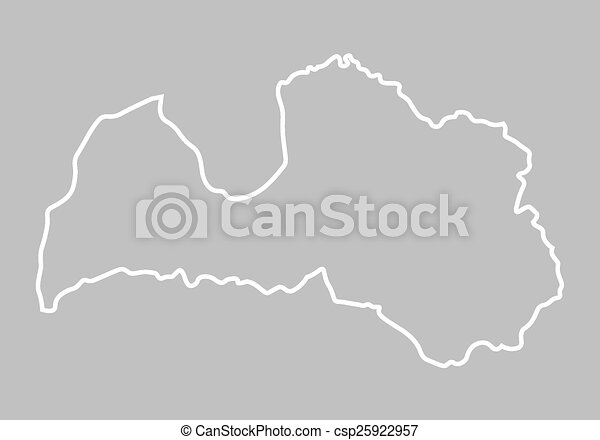 Abstract Outline Of Latvia Map Clipart Vector Search - Latvia map outline