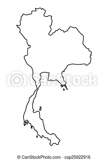 Thailand outline Clipart Vector and Illustration. 803 Thailand ...