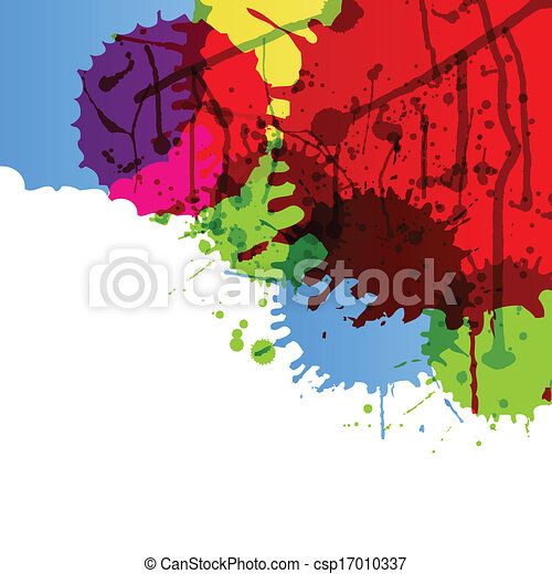 Abstract paint color splashes detailed background illustration - csp17010337