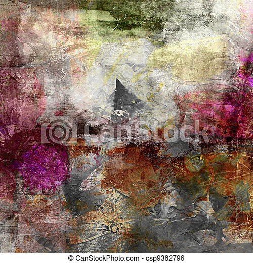 abstract painted background - csp9382796