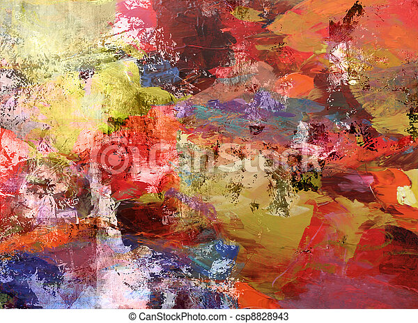 abstract painted background - csp8828943