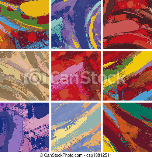abstract painting background design set - csp13812511