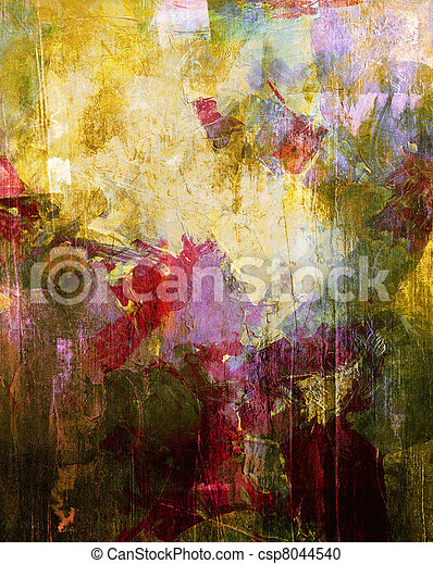 Abstract painting Analog painted background with different textures