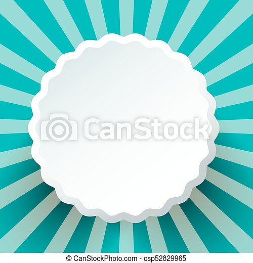 Abstract Paper Cut Circle on Blue Background. Star Shape Retro Backdrop. - csp52829965