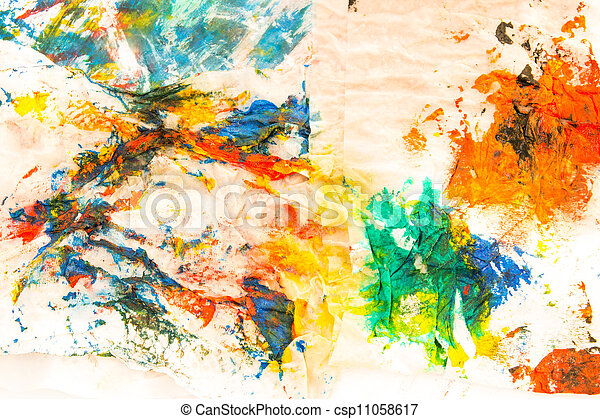 abstract paper painted watercolor background - csp11058617