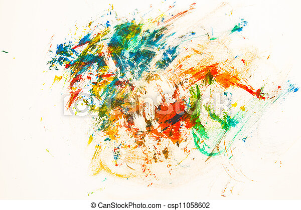 abstract paper painted watercolor background - csp11058602