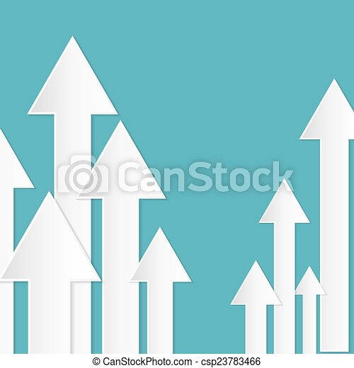 Abstract Paper Vector Arrows on Blue Background - csp23783466
