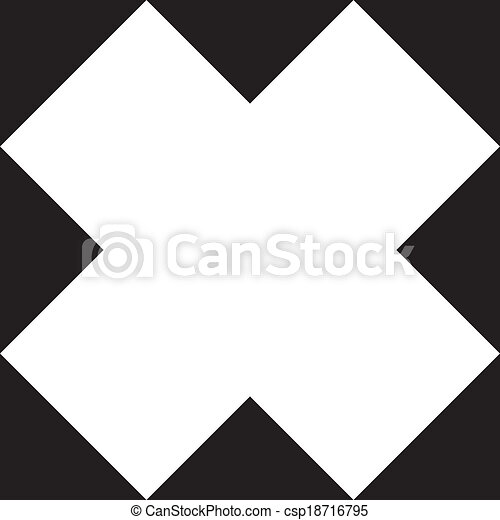 Abstract patch, negative space on transparency background element - csp18716795