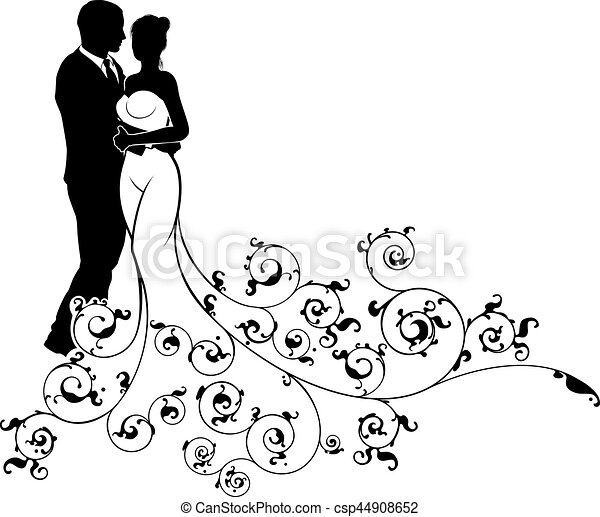 Abstract pattern bride and groom wedding silhouette wedding concept abstract pattern bride and groom wedding silhouette csp44908652 junglespirit Gallery