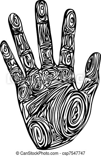 Abstract pattern hand print - csp7547747