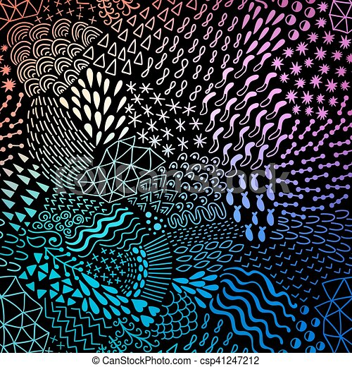 Abstract pattern in retro memphis style. Organic abstract background - csp41247212