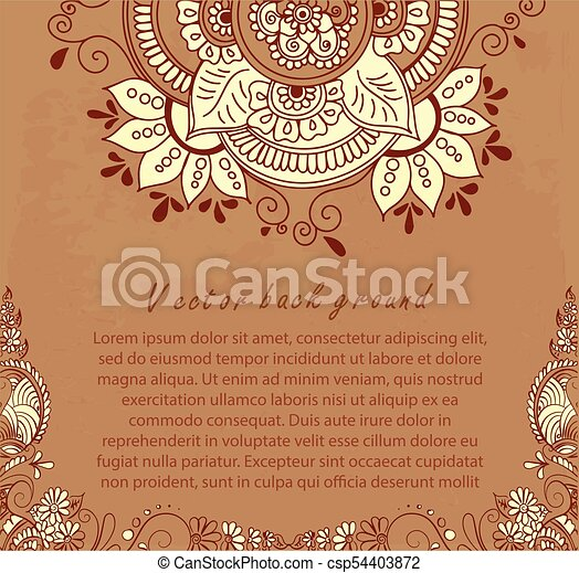 Abstract Pattern Of A Tattoo Henna Vector Abstract Ethnic
