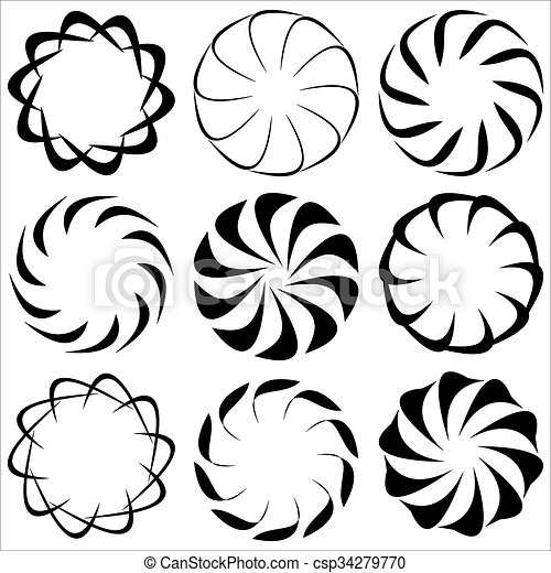 abstract patterns abstract circular patterns on a white background