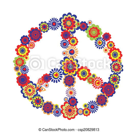 Abstract peace flower symbol - csp20829813