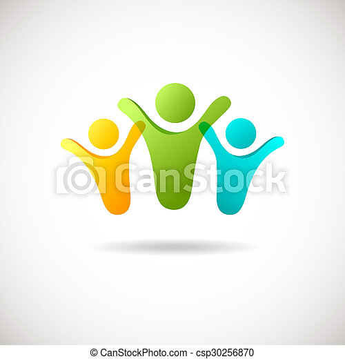 Abstract people logo - csp30256870