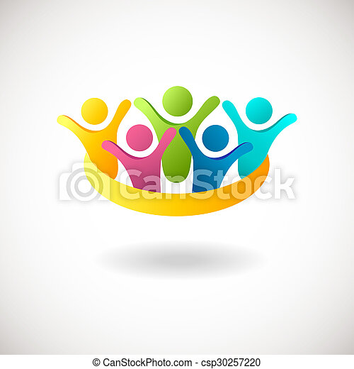 Abstract people logo - csp30257220