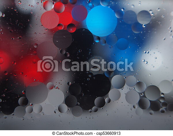 Abstract pictures. Multicolored circles on a colorful background. - csp53660913