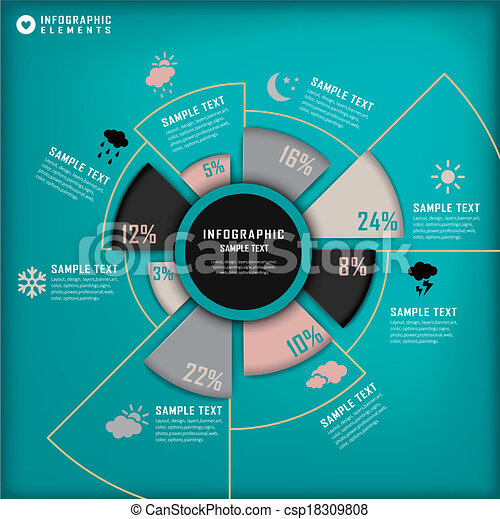 abstract pie chart infographics modern vector abstract pie chart