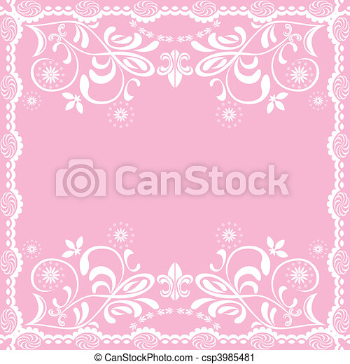Abstract pink feminine background - csp3985481