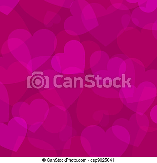 abstract pink heart background - csp9025041