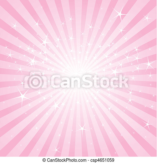 Abstract pink stars and stripes - csp4651059