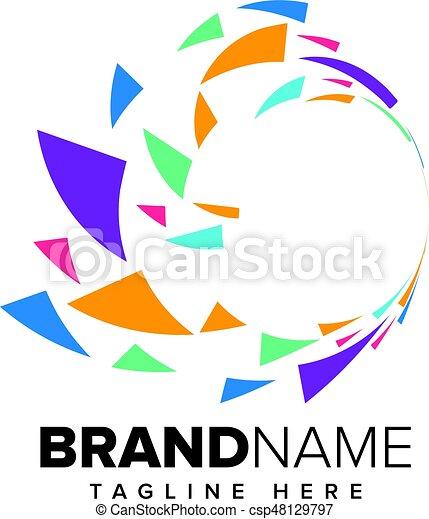 Abstract Pixel Media, Technology Logo - csp48129797